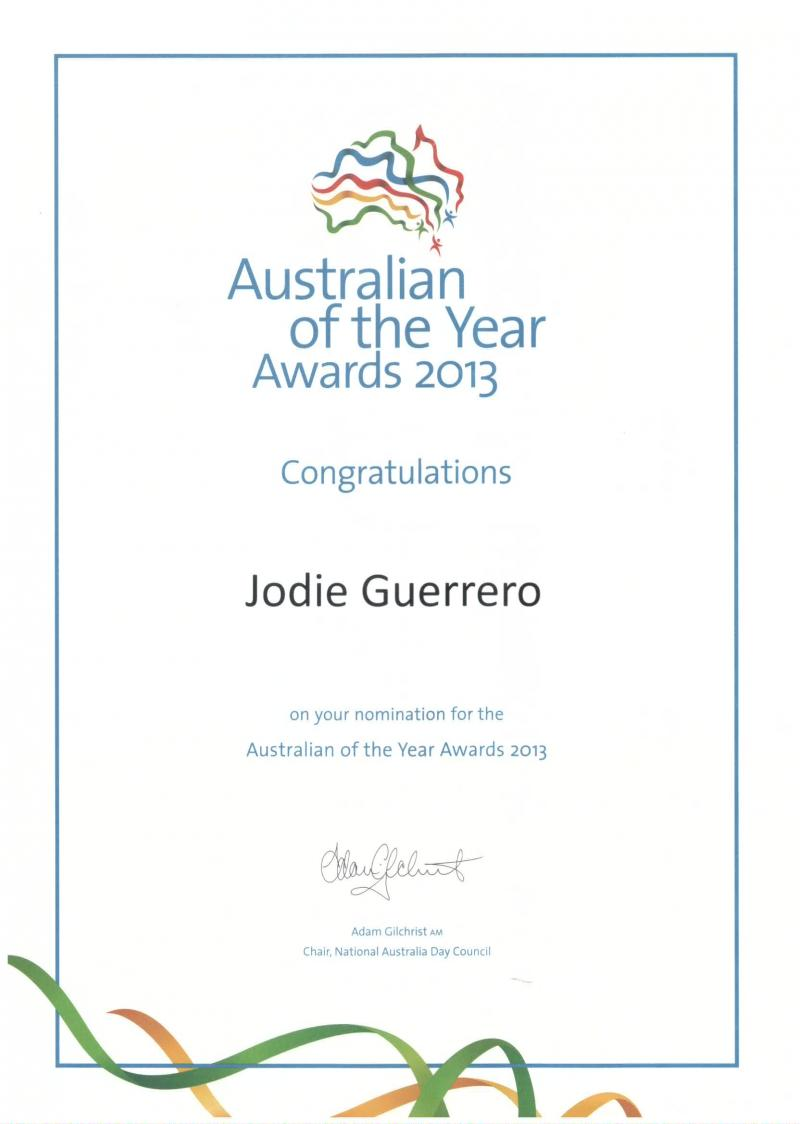 Nomination Australianof the year/2013